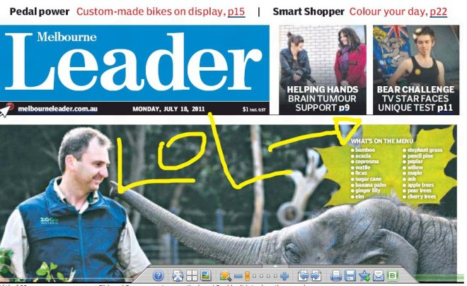 Front Page Melbourne Leader
