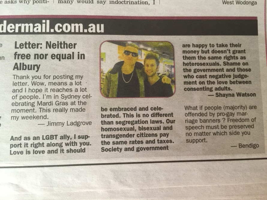 Equality letter