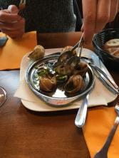 Tried Snails , suprisingly delicious