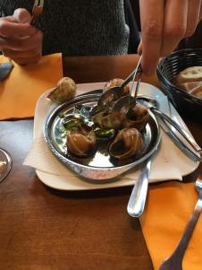 Tried Snails , suprisingly delicious