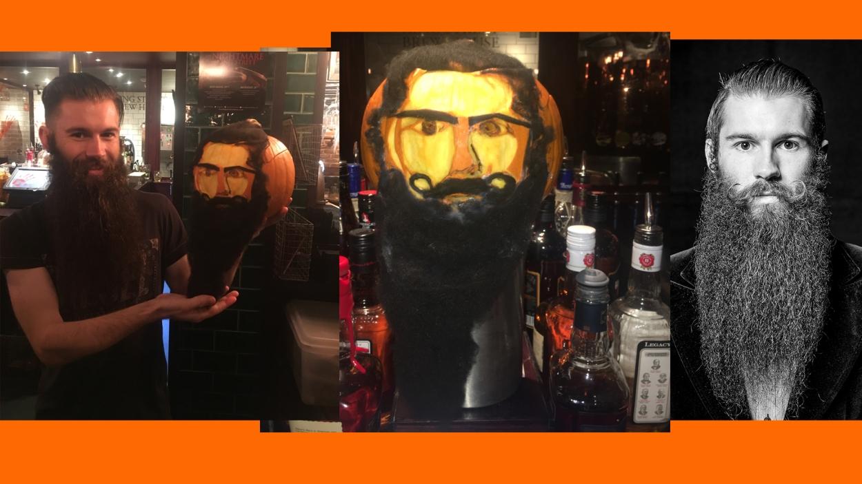 Halloween pumpkin beard
