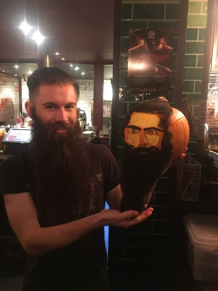 Jimmy and his bearded pumpkin
